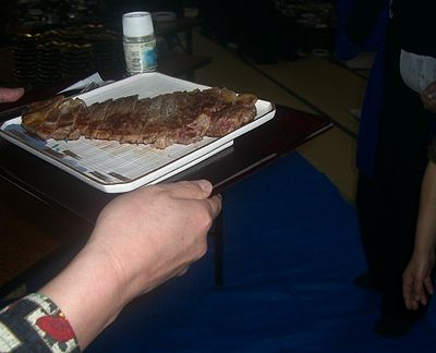 村上牛のステーキ