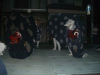 肴町の獅子舞